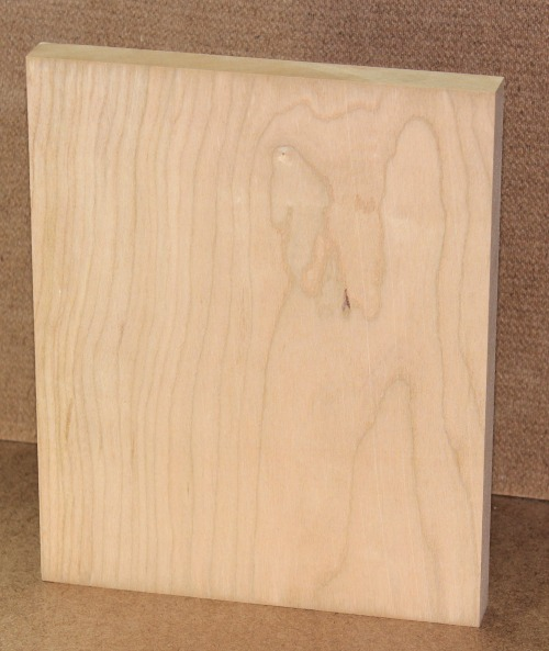 When using cherry look for clear pieces of lumber like this one for a blotch free look once it's stained