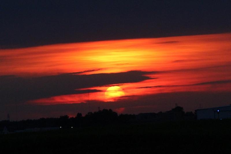 Sunset at Buffalo NY Airport