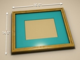 Outside dimension of a picture frame