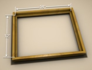 Actual picture frame measurement is done from the inside of the back of the frame