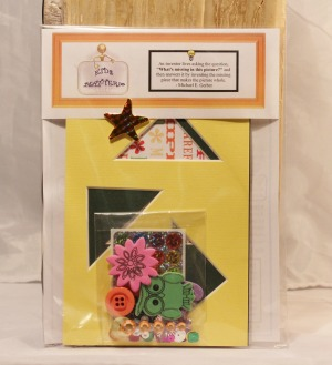 5 x 7 Mat Kit for Kids -  Yellow and Green